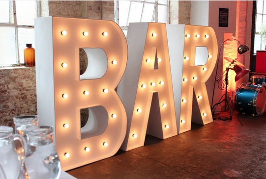 Light Up Giant Word - Bar