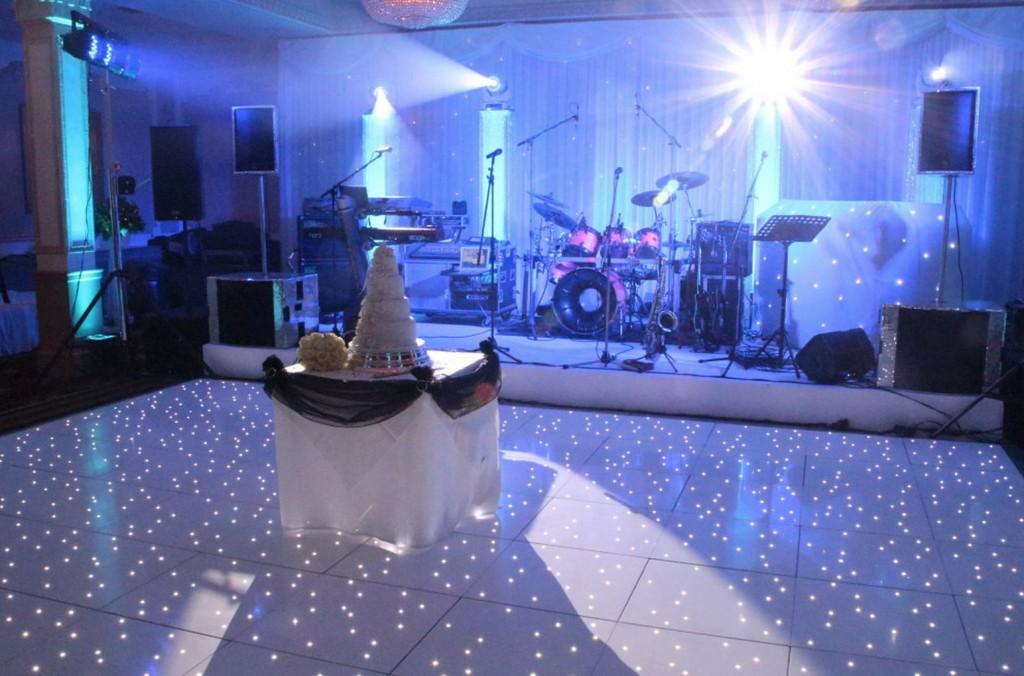 Dancefloor White Starlit