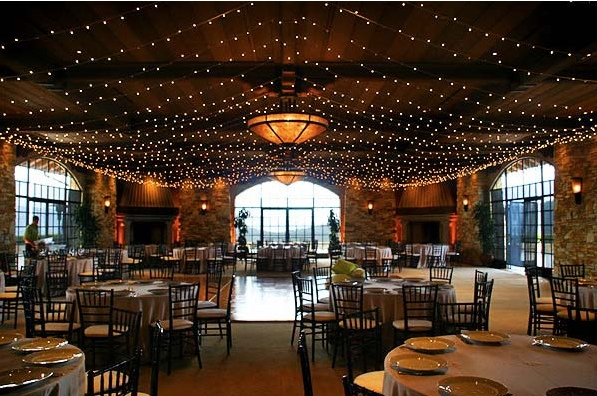 Fairy lights at romantic event
