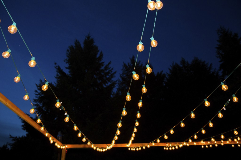 Hanging Strands of Lights