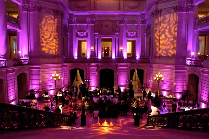 An event lit by our service for lighting hire in London