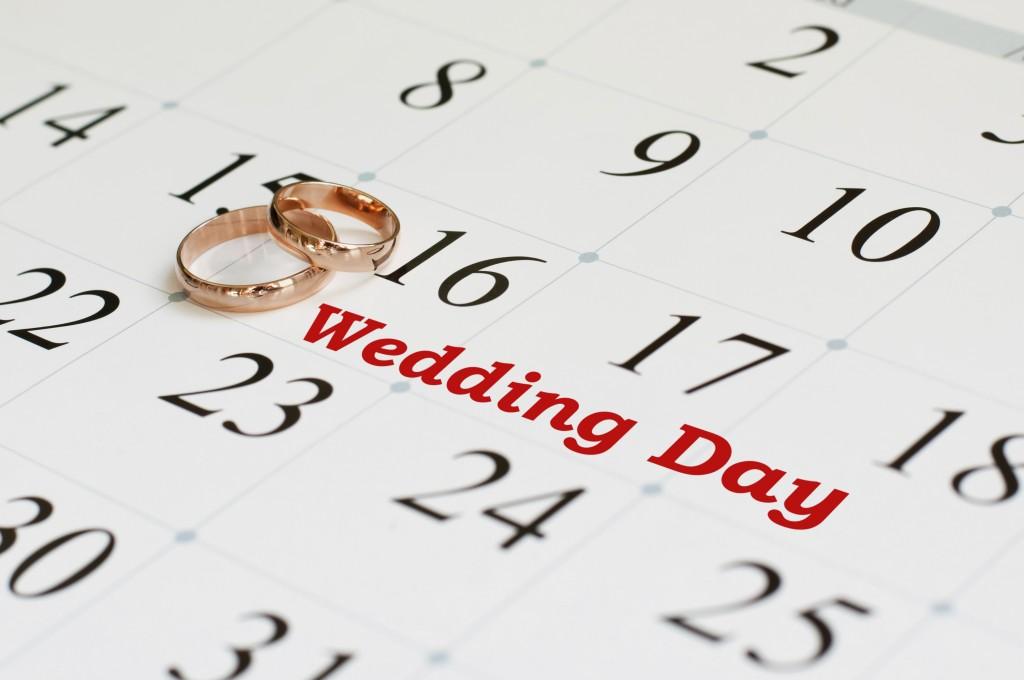 Wedding date calender