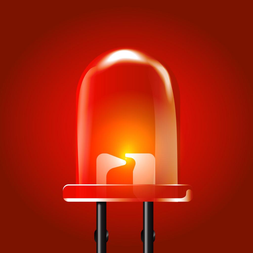 Red luminous bright Light Emitting Diode